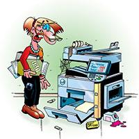 Der Drucker machts net mehr lange.